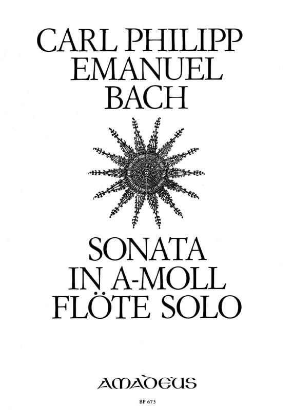 Carl Philipp Emanuel Bach - Sonata a-moll Wq 132 - Solo flute - Partition - di-arezzo.com