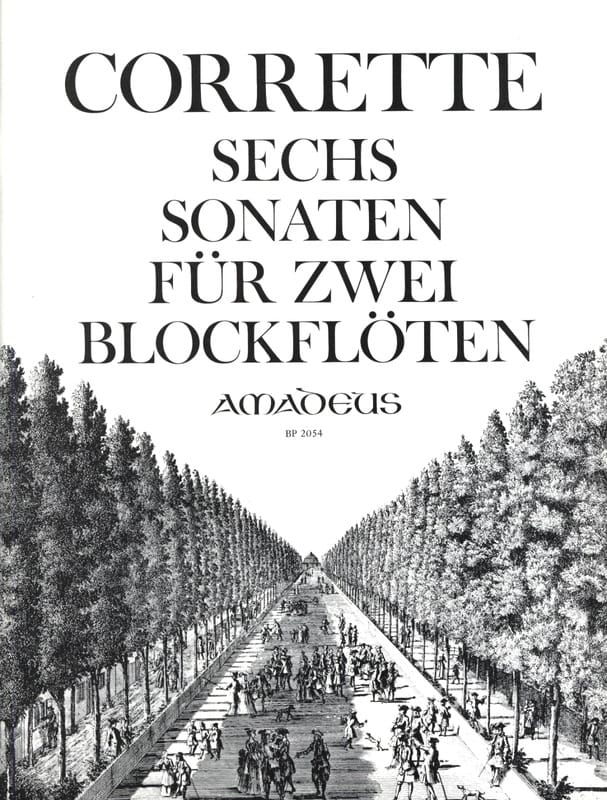6 Sonaten für zwei Blockflöten op. 2 - CORRETTE - laflutedepan.com