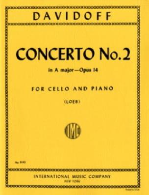 Concerto n° 2 A Major op. 14 - Charles Davidoff - laflutedepan.com