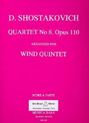 Quartet n° 8 op. 110 arr. for Wind Quintet - Score + Parts - laflutedepan.com