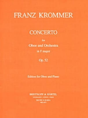 Concerto in F major op. 52 - Oboe piano - KROMMER - laflutedepan.com
