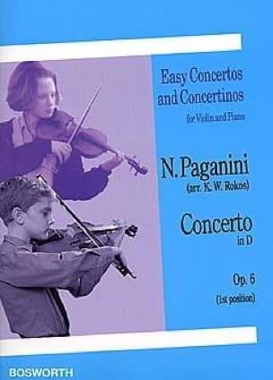 Concerto in D op. 6 - PAGANINI - Partition - Violon - laflutedepan.com