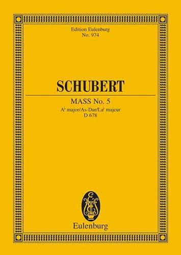 Messe Nr. 5 As-Dur D. 678 - Partitur - SCHUBERT - laflutedepan.com