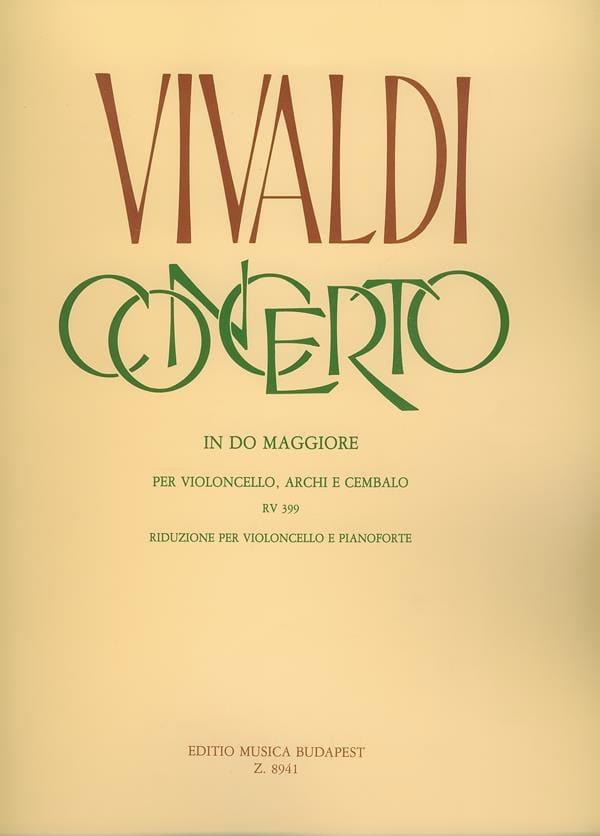 VIVALDI - Concerto in Do Maggiore RV 399 per violoncello - Partition - di-arezzo.fr