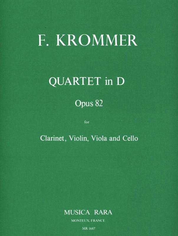 Franz Krommer - Quartet in D op. 82 - Clarinet-Violin-Viola-Cello - Partition - di-arezzo.com