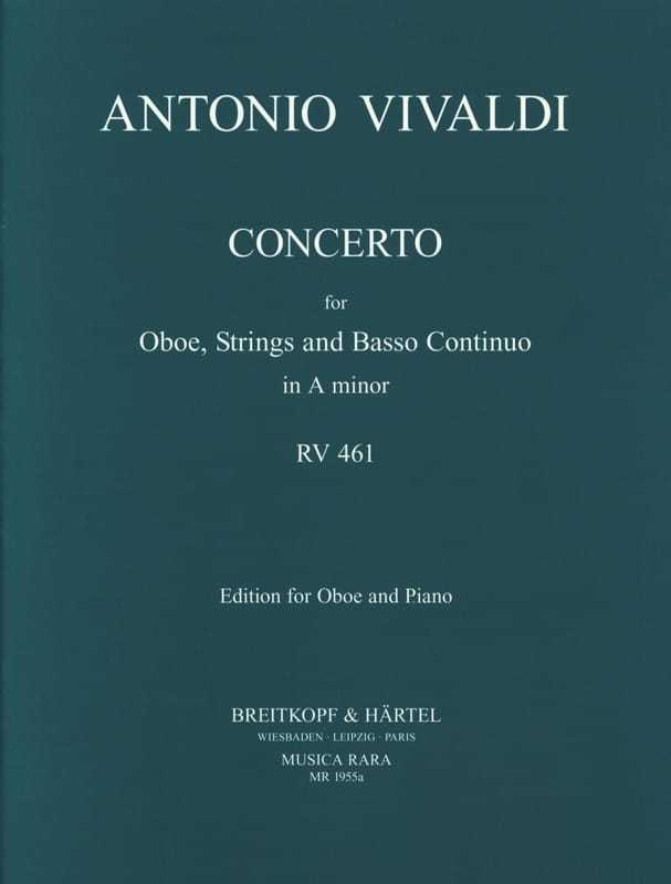 VIVALDI - Concerto in minor RV 461 F. 7 No. 5 - Oboe piano - Partition - di-arezzo.co.uk