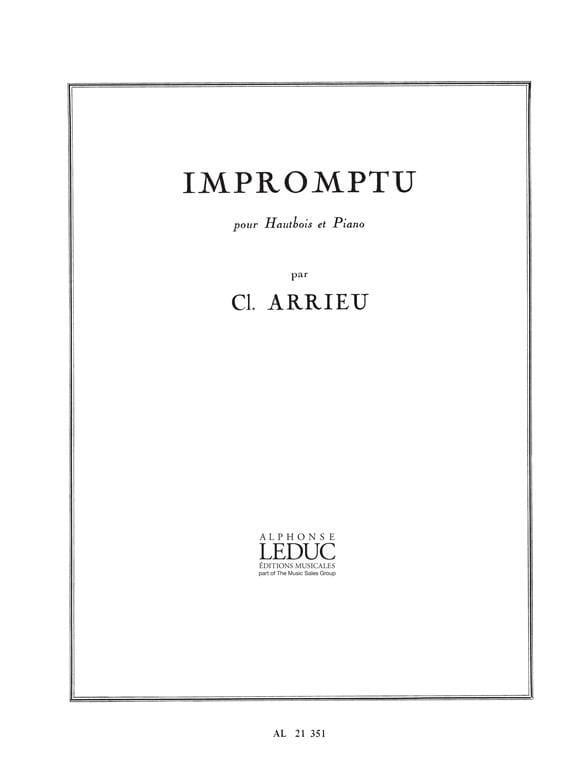 Impromptu - Claude Arrieu - Partition - Hautbois - laflutedepan.com