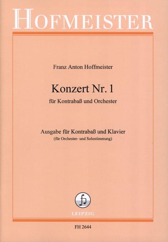 Franz Anton Hoffmeister - Kontrabass-Konzert n ° 1 - Partition - di-arezzo.co.uk