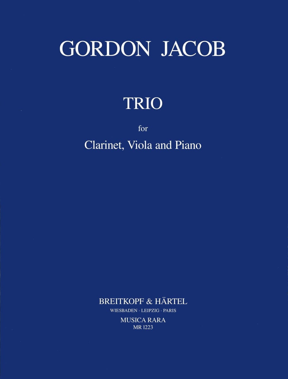 Trio -Clarinet viola piano - Gordon Jacob - laflutedepan.com