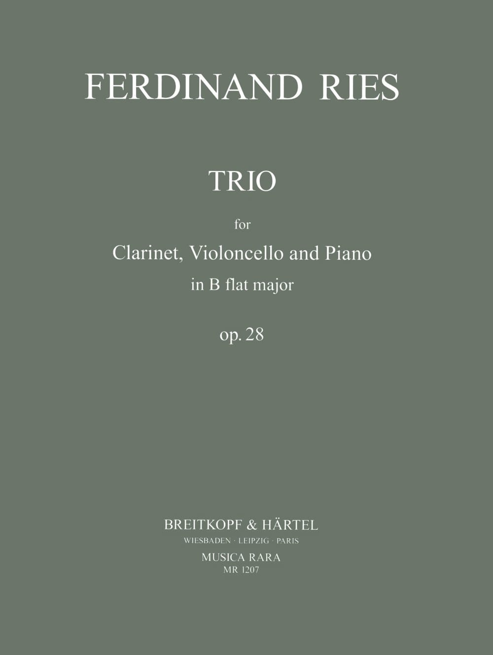 Trio in B-flat major op. 28 - Clarinet cello piano - laflutedepan.com