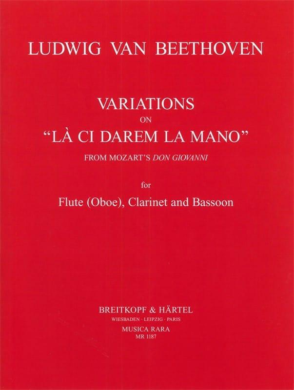 BEETHOVEN - Variations on La ci darem the mano - Flute clarinet bassoon - Partition - di-arezzo.com