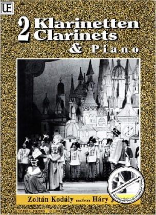 Hary Janos -2 Klarinetten Klavier - KODALY - laflutedepan.com