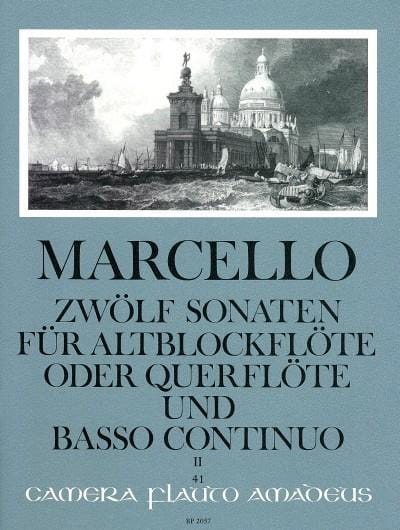 Benedetto Marcello - 12 Sonaten op. 2 - Bd. 2 - Altblockflöte Flöte und Bc - Partition - di-arezzo.co.uk
