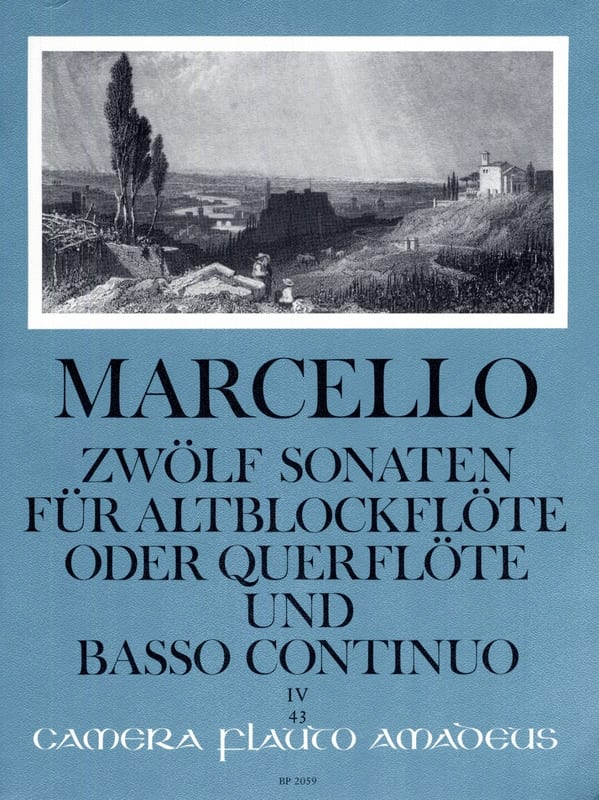 Benedetto Marcello - 12 Sonaten op. 2 - Bd. 4 - Altblockflöte o. Flöte und Bc - Partition - di-arezzo.co.uk