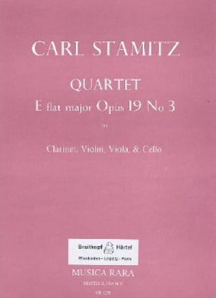 Quartet E flat maj. op. 19 n° 3 -Clarinet violin viola cello - laflutedepan.com