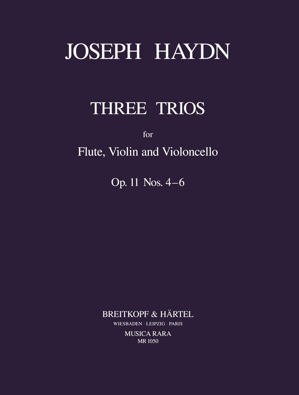 HAYDN - 3 Trios op. 11 No. 4-6 - Flute Violine Violonc. - Stimmen - Partition - di-arezzo.com