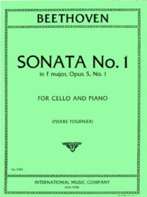 Sonata n°1 in F major op. 5 n° 1 - BEETHOVEN - laflutedepan.com