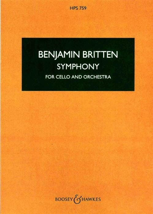 Benjamin Britten - Symphony for cello and orchestra - Score - Partition - di-arezzo.com
