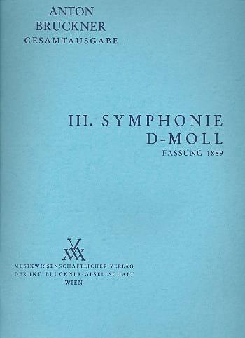 Anton Bruckner - Symphonie Nr. 3 d-moll 1889 -Vol 3 - Partition - di-arezzo.fr