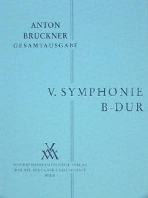 Anton Bruckner - Symphony Nr. 5 B-Dur - Partition - di-arezzo.co.uk