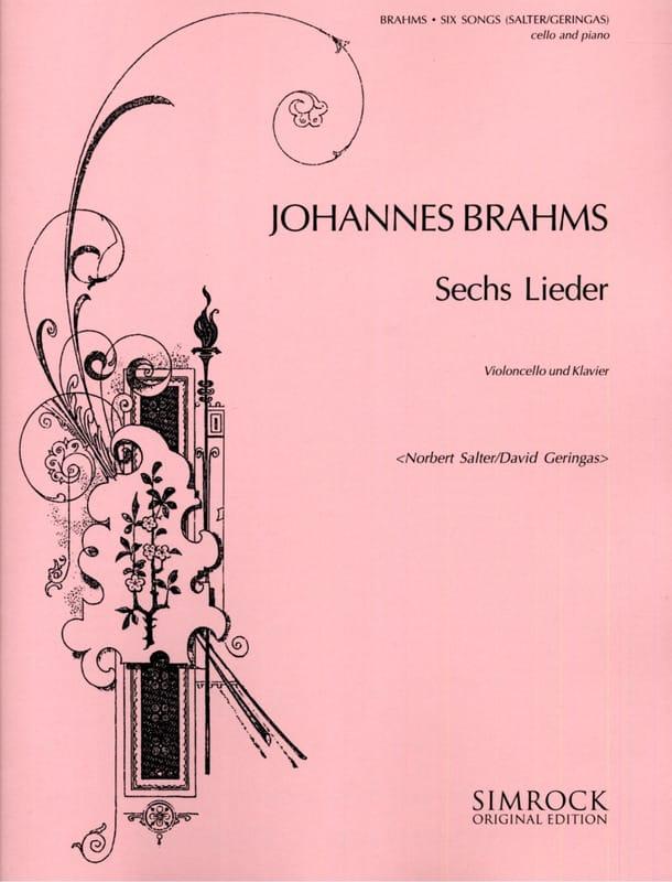 BRAHMS - 6 Lieder - Partition - di-arezzo.es