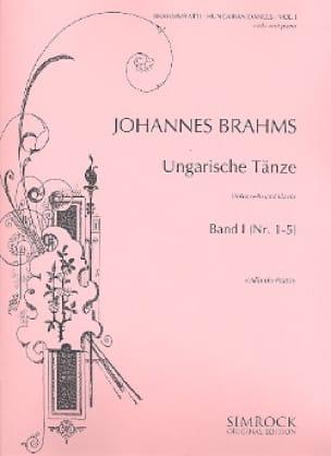 BRAHMS - Danses Hongroises Volume 1 - Partition - di-arezzo.fr