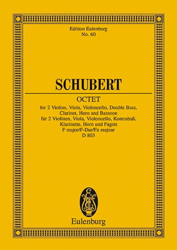 SCHUBERT - Octet in F Major D. 803 Op. Posth 166 - Partition - di-arezzo.co.uk