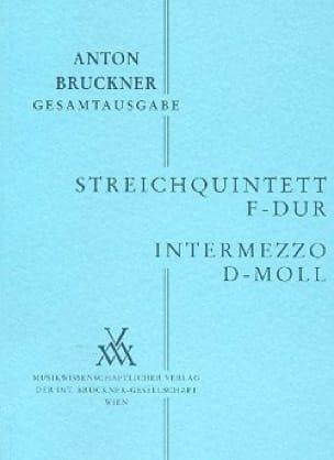 Anton Bruckner - Streichquintett F-Dur - Intermezzo d-moll - Partitur - Partition - di-arezzo.co.uk