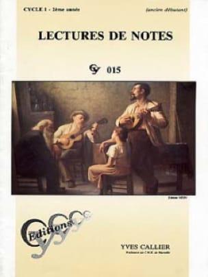 Yves Callier - Lectures de notes - Cycle 1 - 2ème année - Partition - di-arezzo.ch