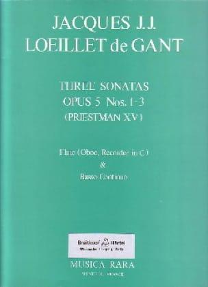 3 Sonatas op. 5 n° 1-3 - Flute oboe, recorder in C et Bc - laflutedepan.com