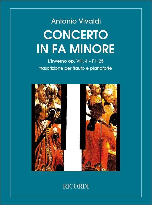 Concerto en fa min. L'inverno - F. 1 n° 25 - Flûte/Piano - laflutedepan.com