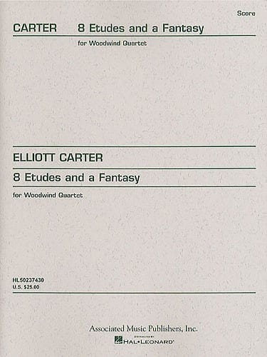 8 Etudes and a fantasy - woodwind quartet- Score - laflutedepan.com