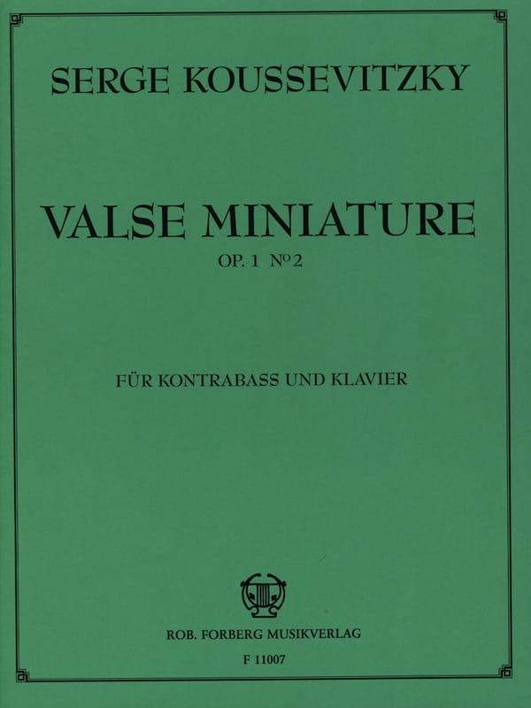 Valse miniature op. 1 n° 2 - Serge Koussevitzky - laflutedepan.com