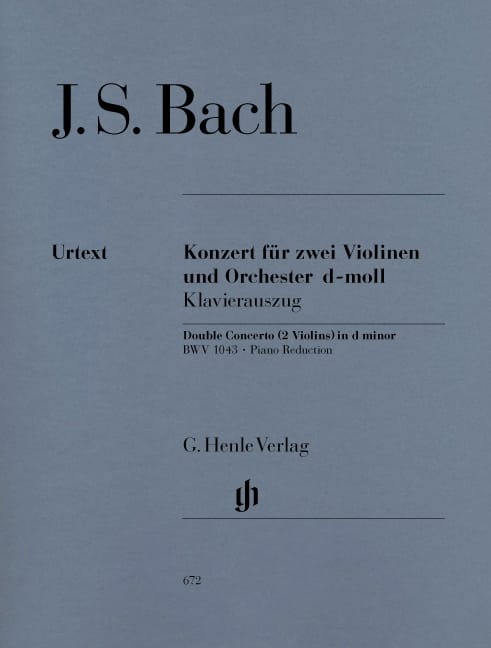 BACH - Concerto in D minor BWV 1043 for 2 violins and orchestra Double concerto - Partition - di-arezzo.com