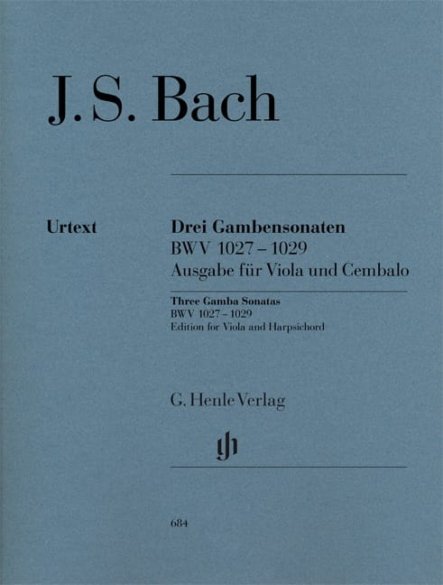 BACH - Three sonatas for viola da gamba and harpsichord BWV 1027-1029 - Partition - di-arezzo.co.uk