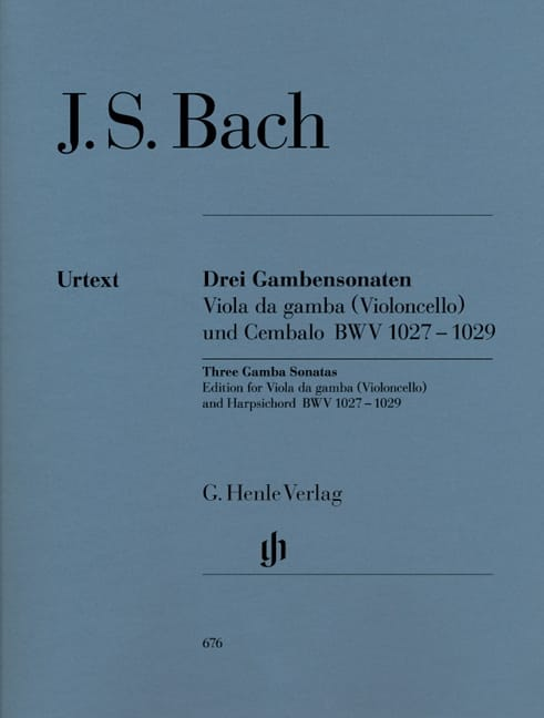 BACH - Three sonatas for viola da gamba BWV 1027-1029 - Partition - di-arezzo.com