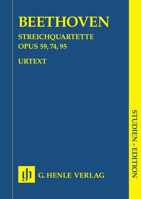 BEETHOVEN - Cuartetos de cuerda op. 59, 74, 95 - Partition - di-arezzo.es