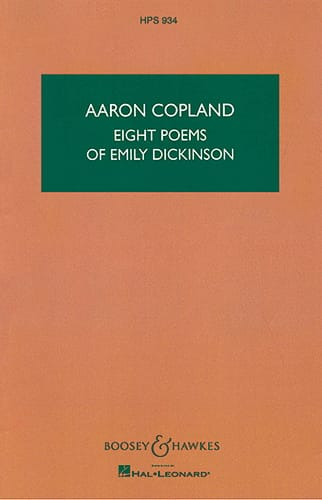 Aaron Copland - Eight Poems of Emily Dickinson - Partition - di-arezzo.co.uk