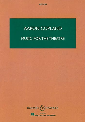 Aaron Copland - Music for the Theater - Partition - di-arezzo.co.uk