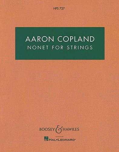 Nonet for strings -Score - COPLAND - Partition - laflutedepan.com