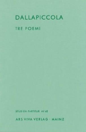 Tre Poemi - Partitura - Luigi Dallapiccola - laflutedepan.com