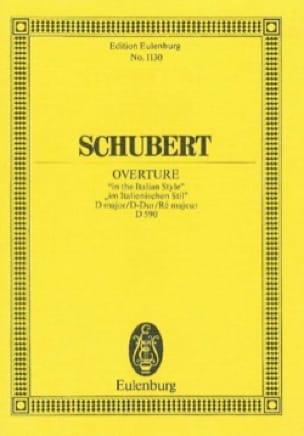 Ouvertüre D-Dur D 590 - SCHUBERT - Partition - laflutedepan.com
