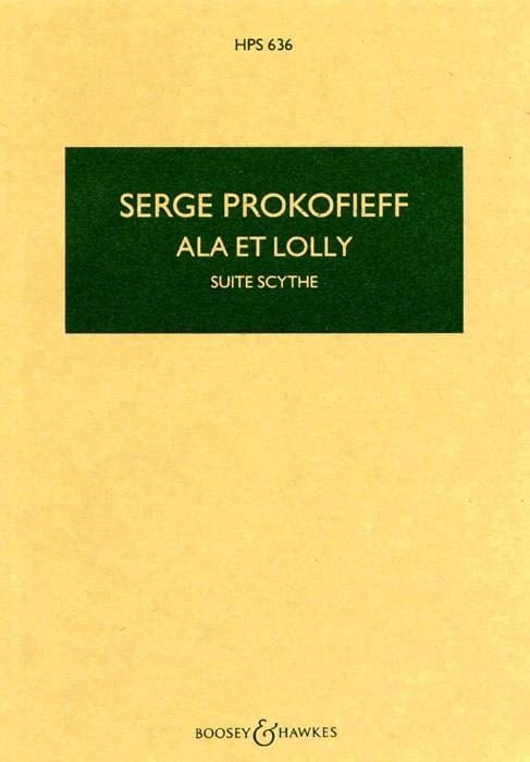 Serge Prokofiev - Ala y Lolly - Scythe Suite op. 20 - Puntuación - Partition - di-arezzo.es