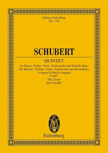 SCHUBERT - Quintett A-Dur The MD667 - Trout - Partition - di-arezzo.co.uk