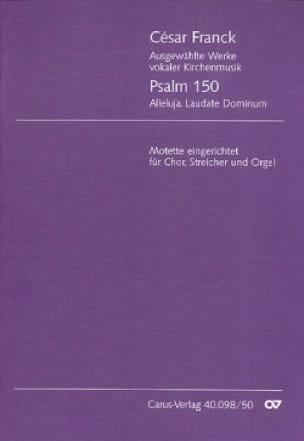 Psalm 150 - Chor, Streicher, Orgel - Score - FRANCK - laflutedepan.com