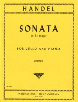 HAENDEL - Sonata en Bb mayor - Cello - Partition - di-arezzo.es