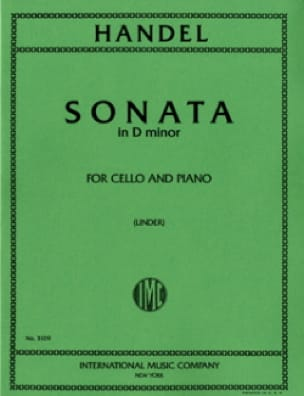 HAENDEL - Sonata en re menor - Partition - di-arezzo.es