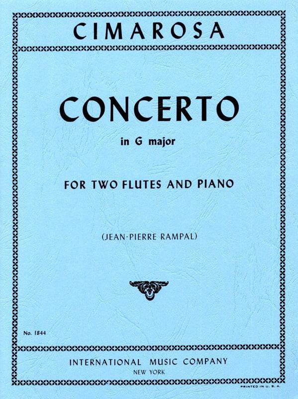 Concerto in G major -2 Flutes piano - CIMAROSA - laflutedepan.com