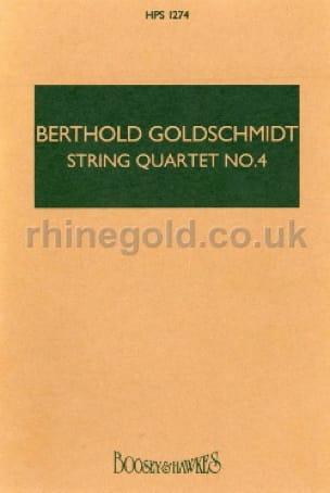 String quartet n° 4 -Score - Berthold Goldschmidt - laflutedepan.com