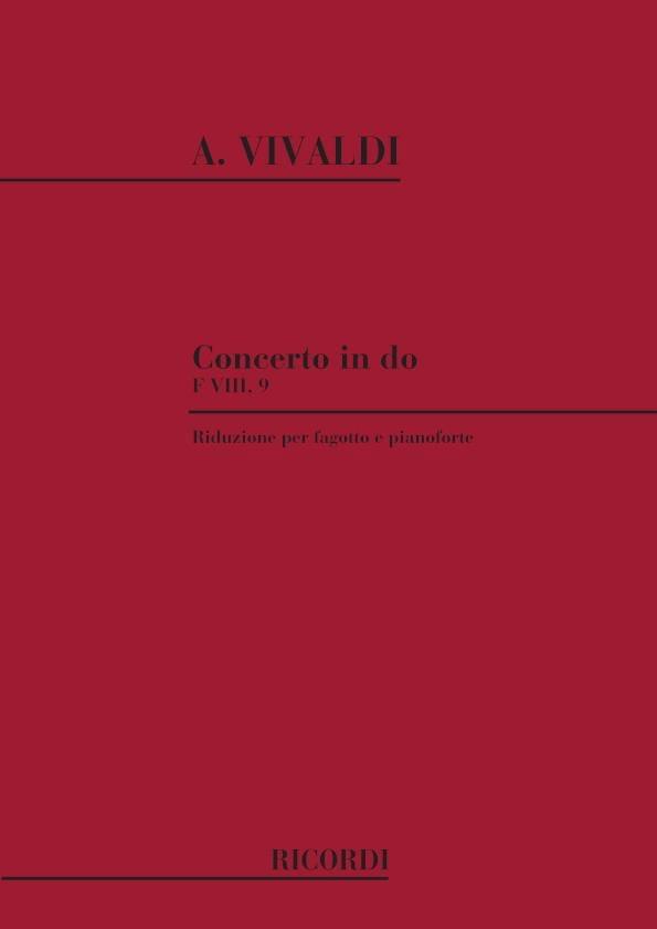 Concerto en do maj. - F. 8 n° 9 - Basson/Piano - laflutedepan.com